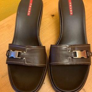 Like New!  Prada leather sandals